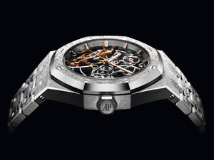 Frosted White Gold Royal Oak Ladies Openworked 15466BC.GG.1259BC.01 - Audemars Piguet