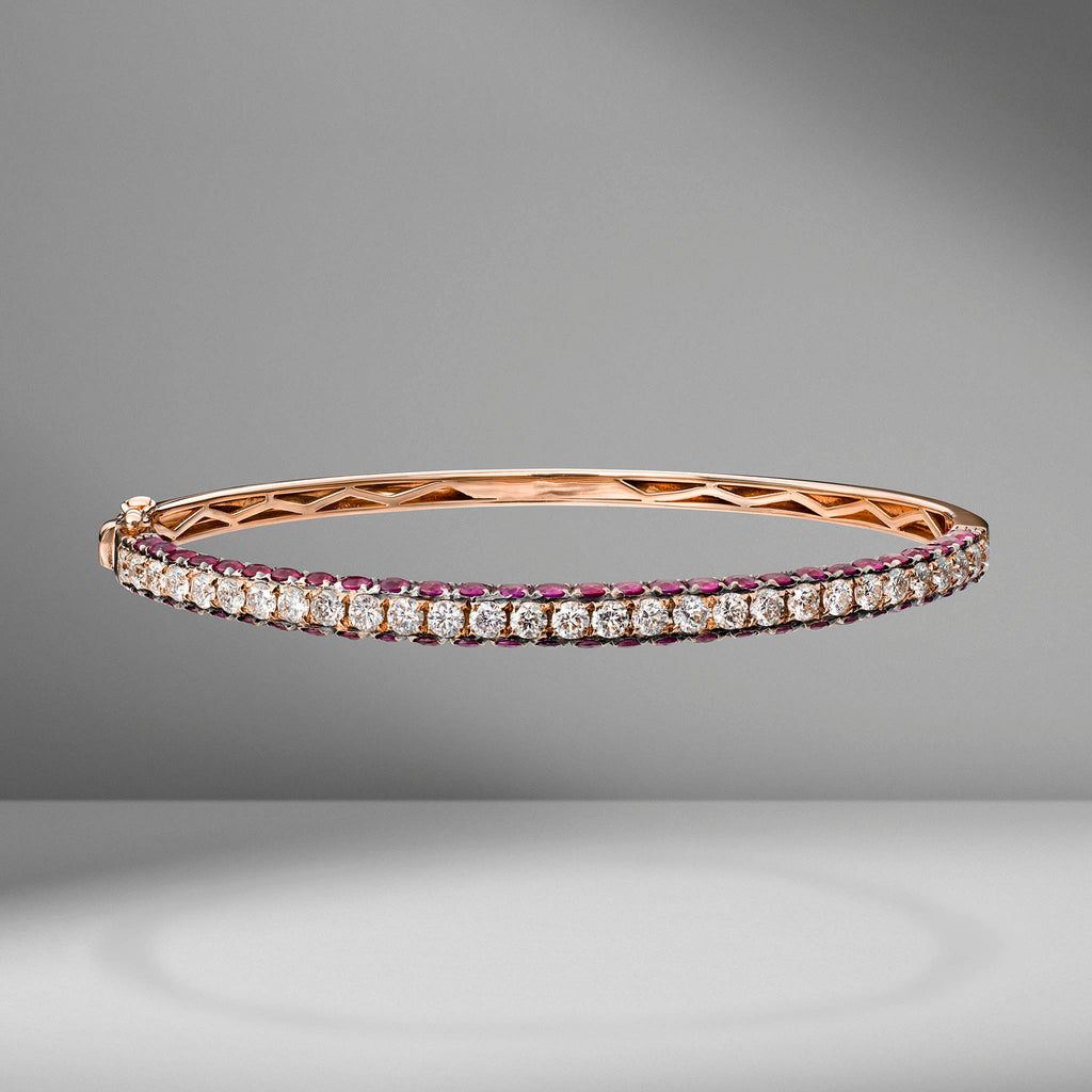 Diamond & Ruby Bangle