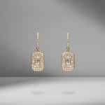 Essential Pavé Baguette Drop Earrings