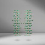 Emerald Fishbone Drop Earrings