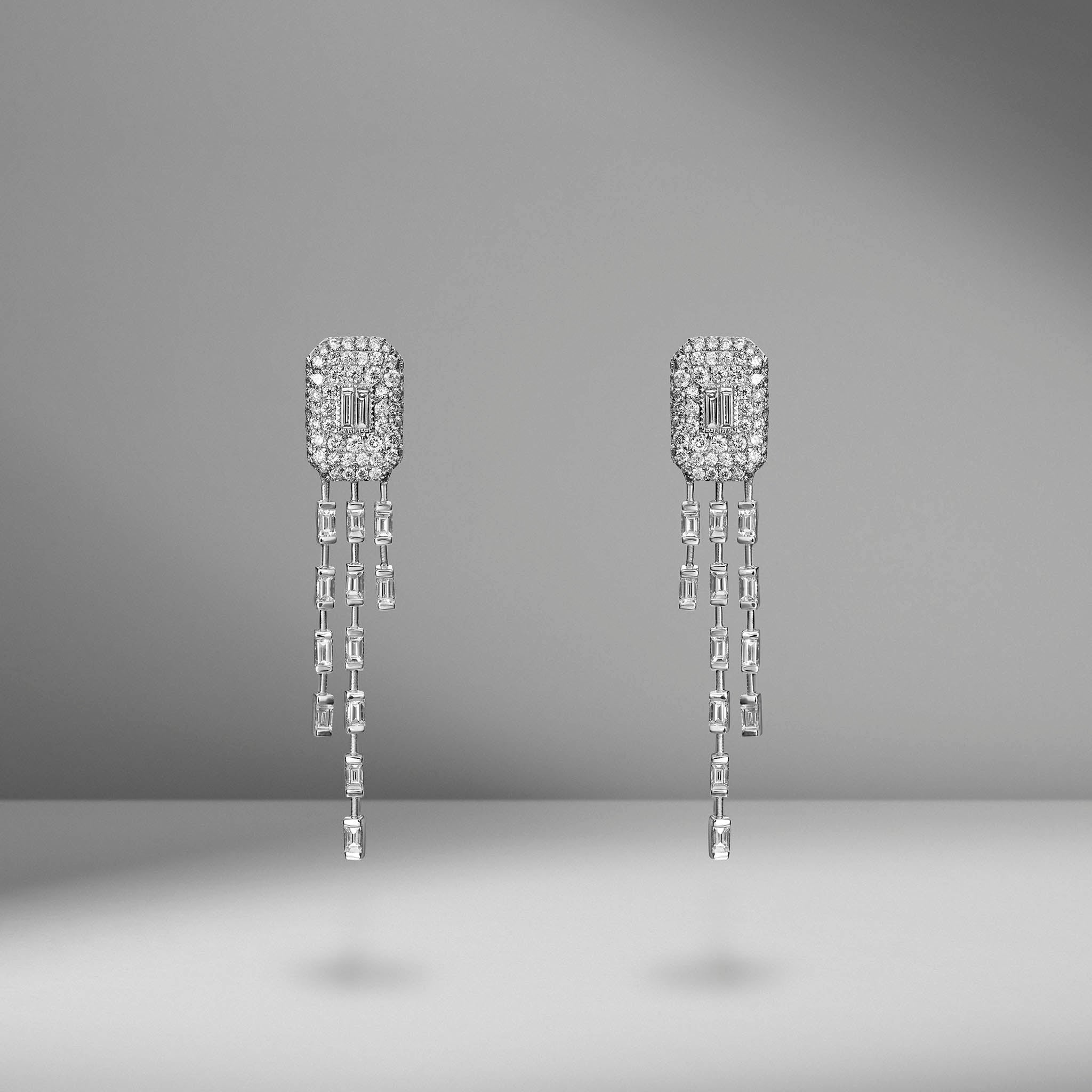 Waterfall Baguette Drop Earrings