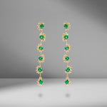 Emerald and Diamond Drop Earring