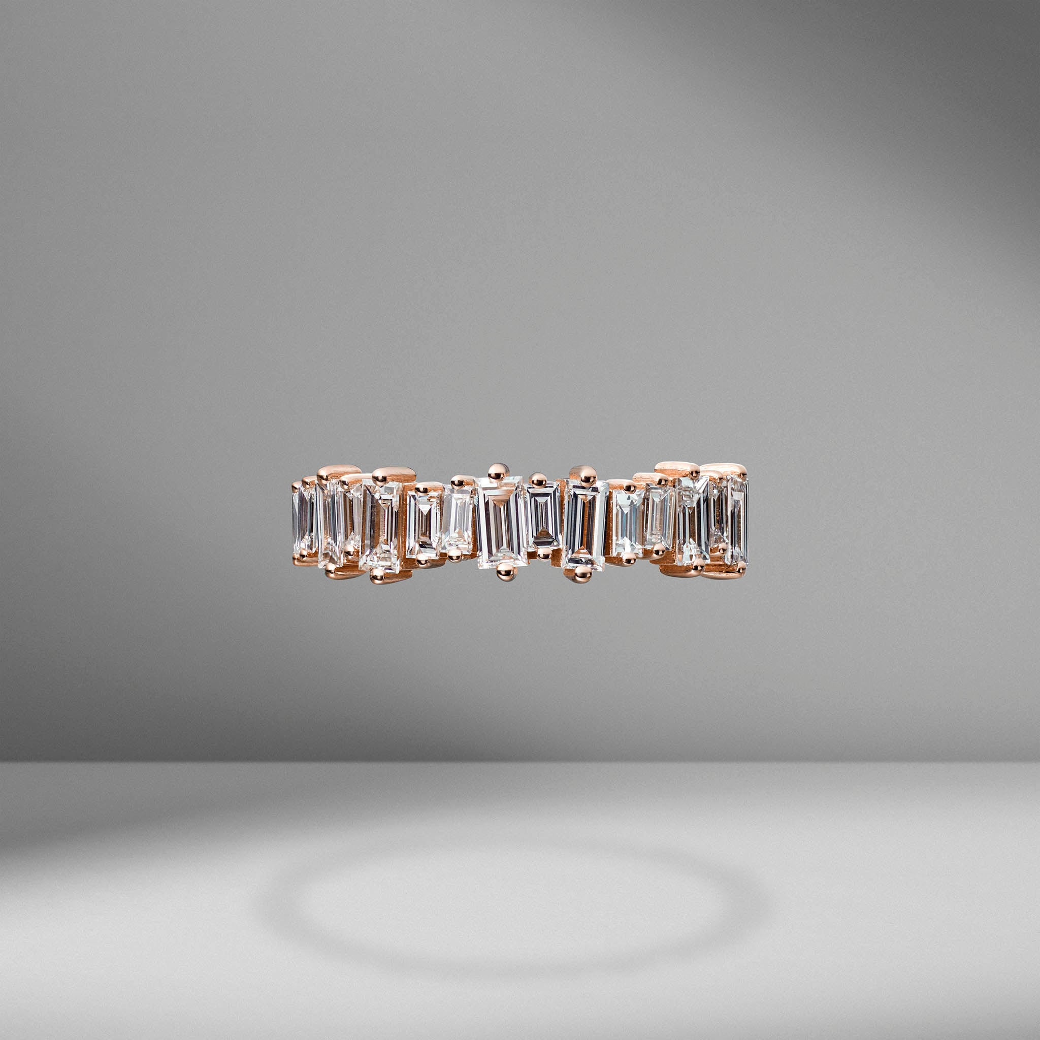 Diamond Baguette Half Band