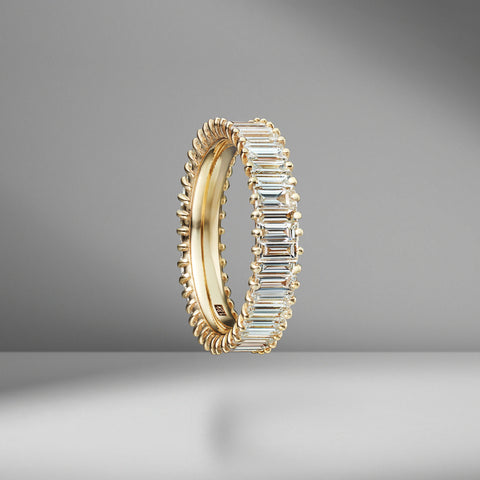 Classic Diamond Baguette Eternity Band