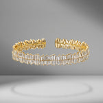 Two Row Large Baguette Diamond Bangle