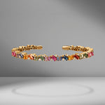 Rainbow Frenzy Sapphire & Diamond Bangle