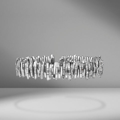 Vertical Diamond Baguette Bangle