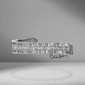 Firework Round & Baguette Diamond Bangle