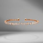 Round Starburst Diamond Bangle
