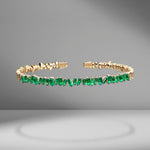 Fireworks Classic Baguette Emerald Bangle