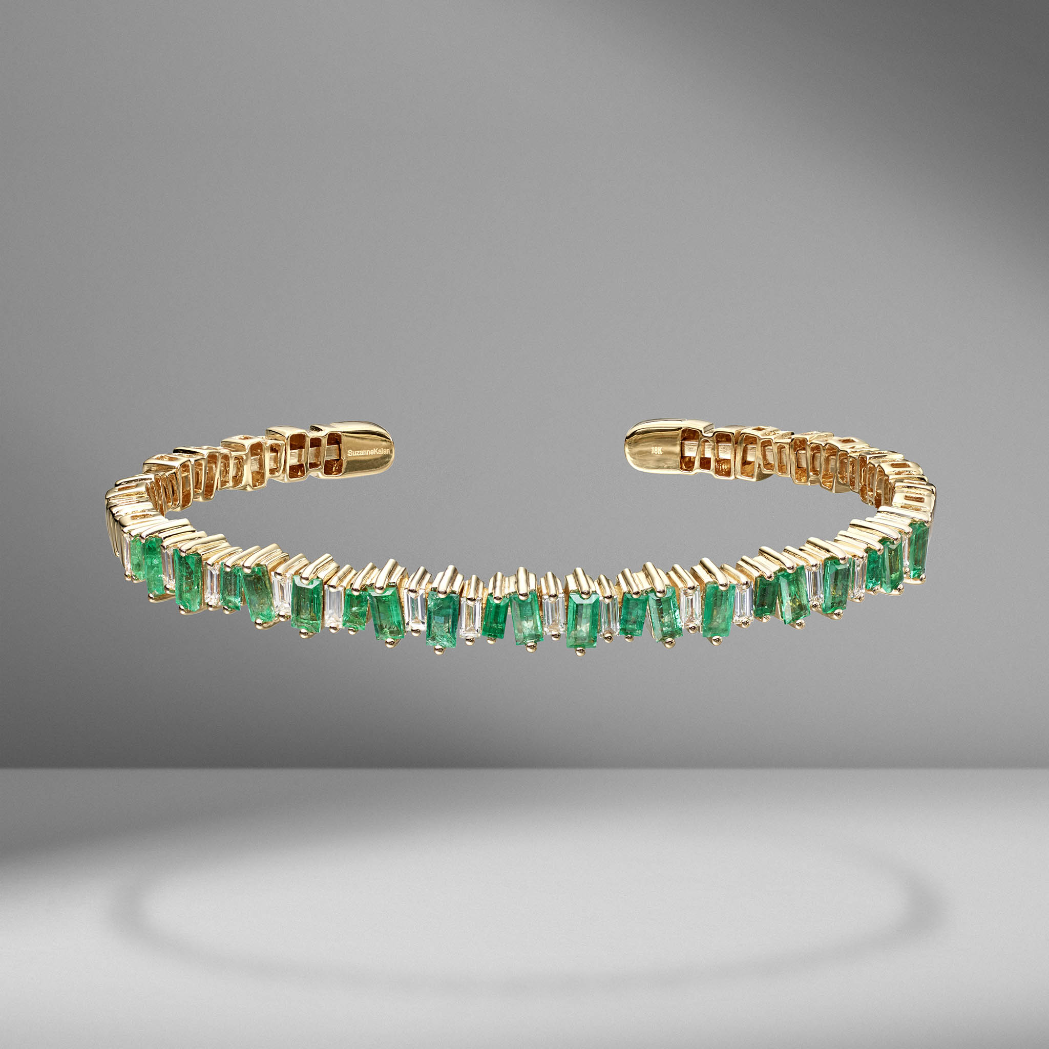 Fireworks Emerald Baguette Bangle