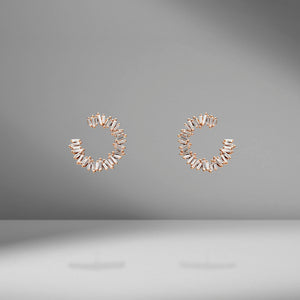 Mini Diamond Spiral Earrings