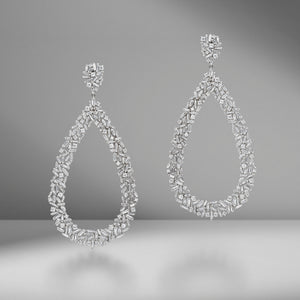 Eternity Pear Earrings