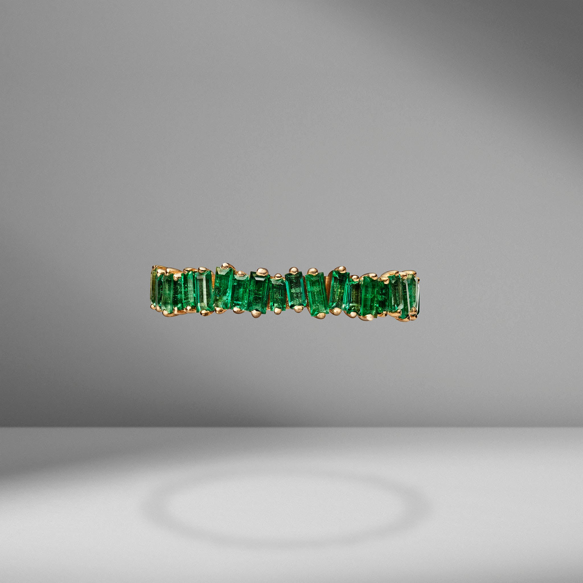 Emerald Baguette Eternity Band
