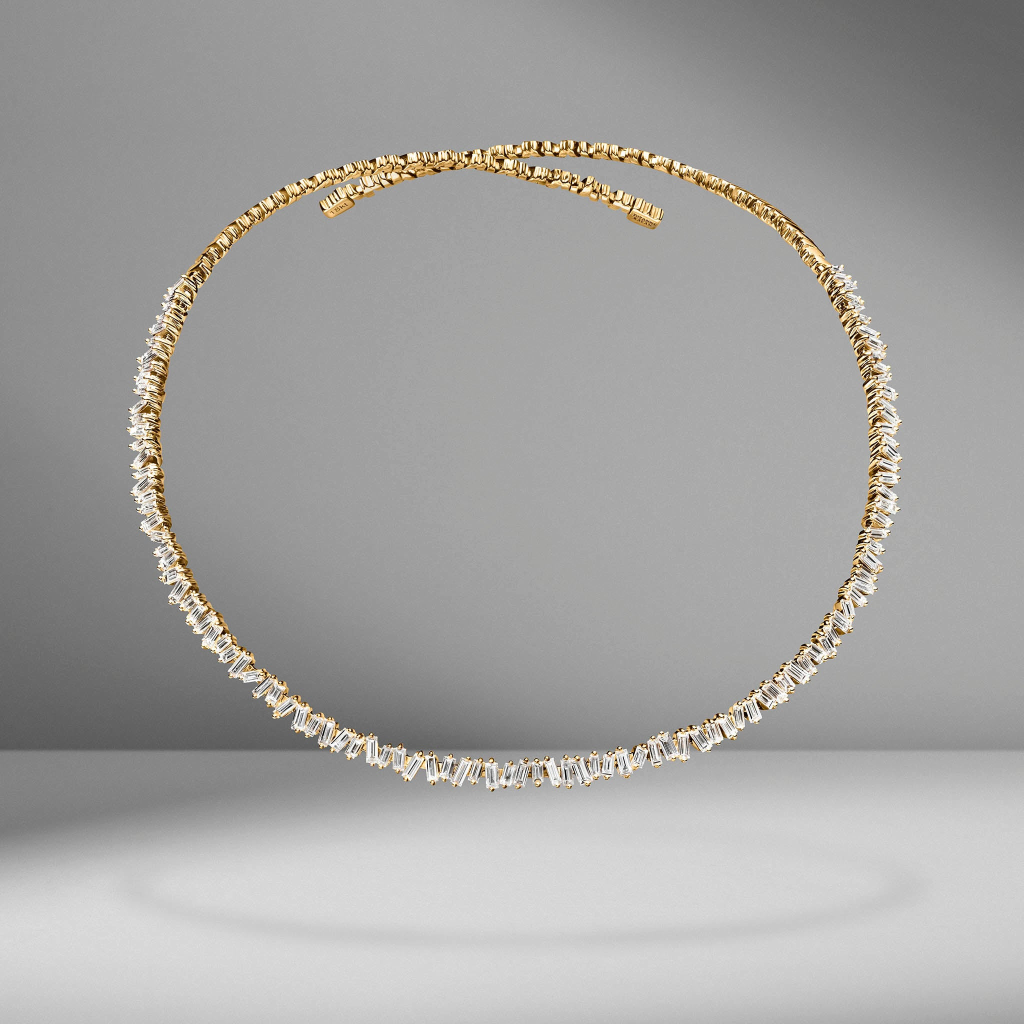 Classic Fireworks Diamond Collar Necklace