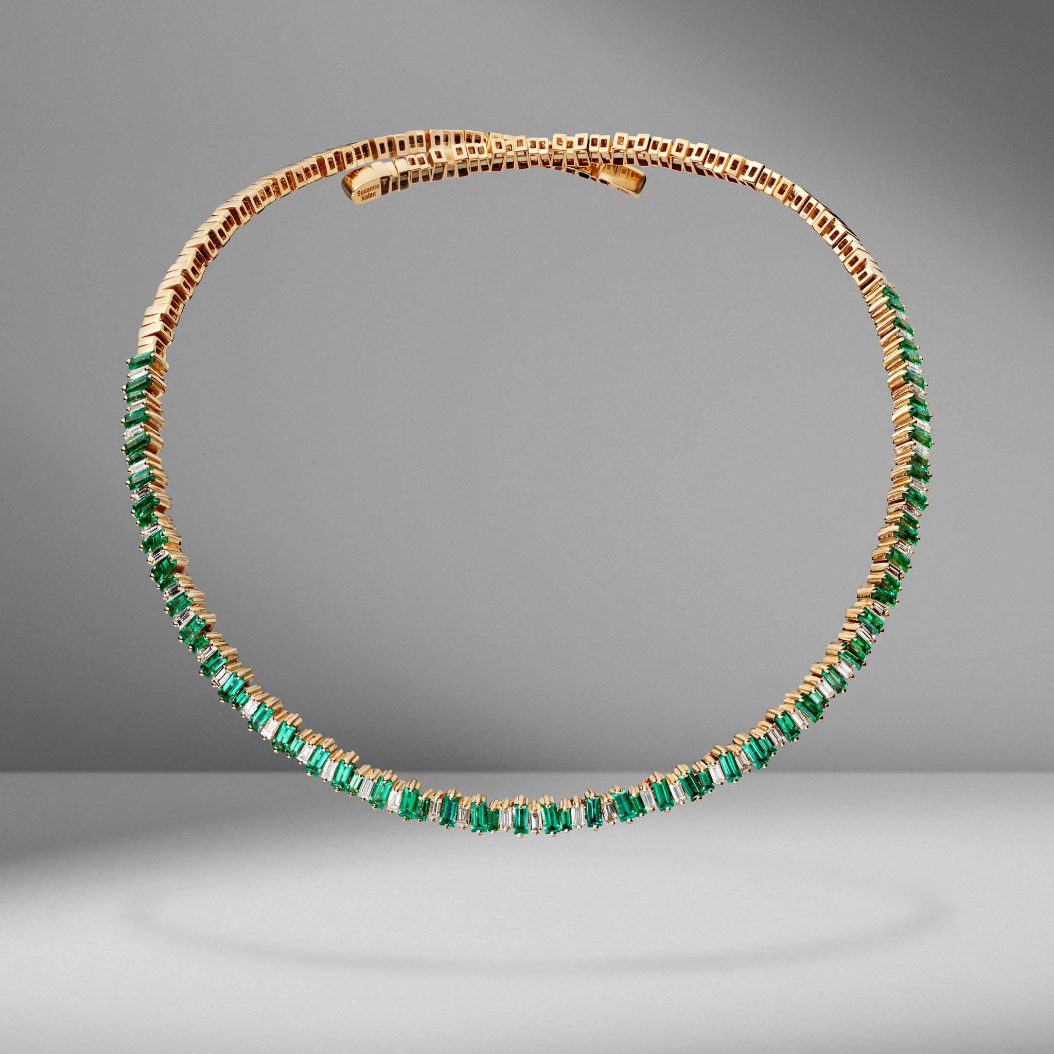 Emerald & Diamond Firework Collar Necklace