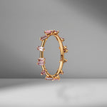 Pink Sapphire Barbwire Ring