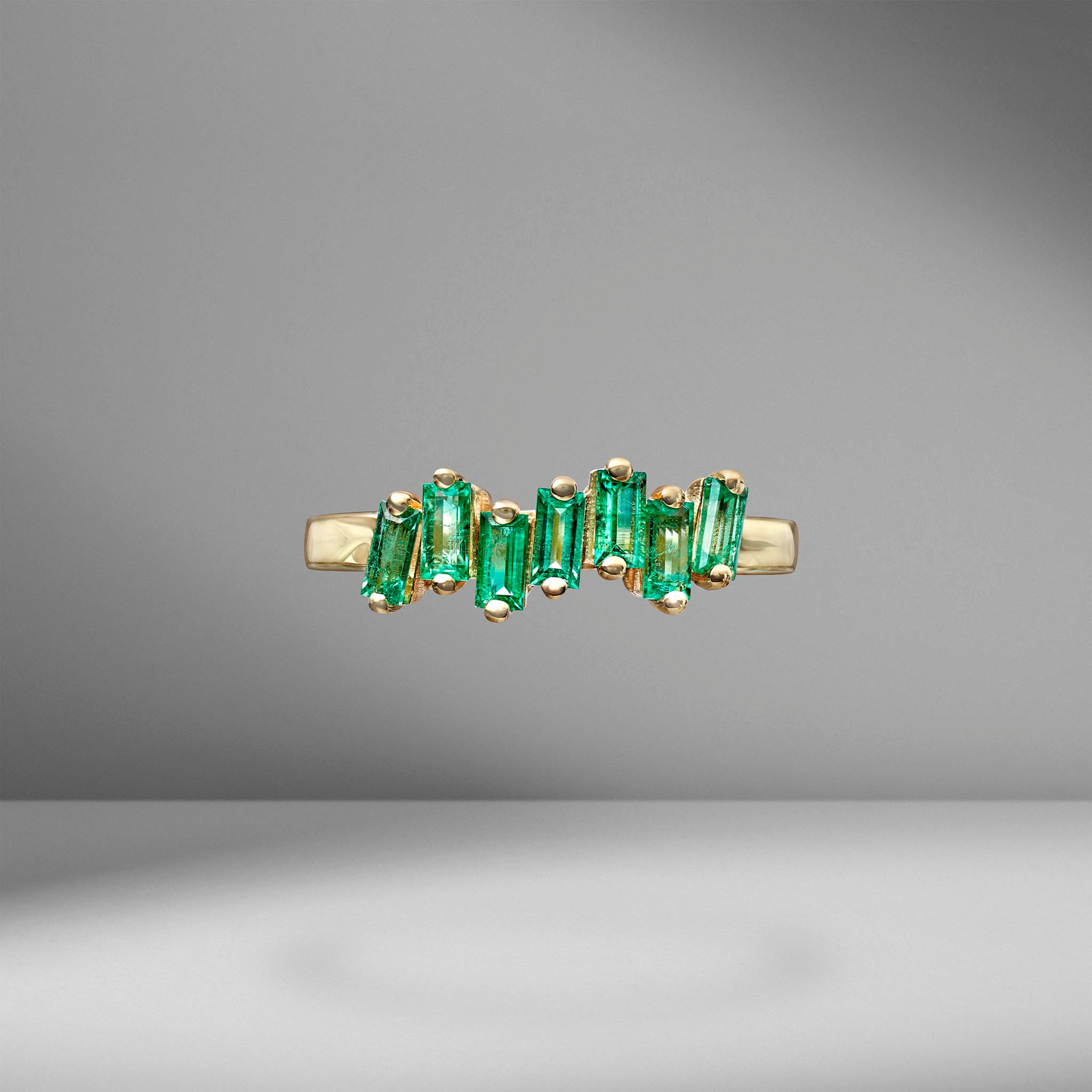 Fireworks Emerald Ring