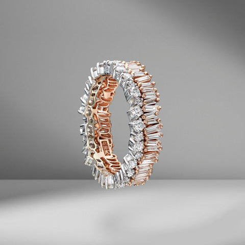 Two-Toned Short Stack Eternity Band