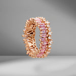 Short Stack Light Pink Sapphire Eternity Band