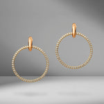 Casseus SP Diamond Hoop Earrings