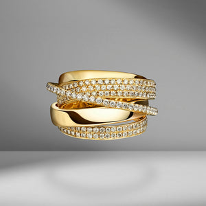 Yellow Gold Essential Orbit Ring