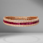 Ruby Stretch Fishbone Bracelet