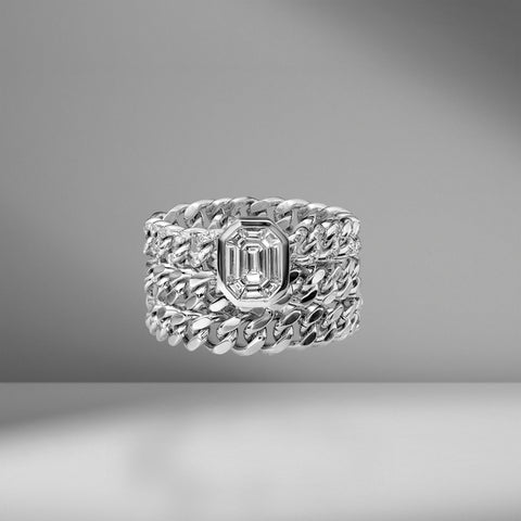 Triple Link Illusion Ring