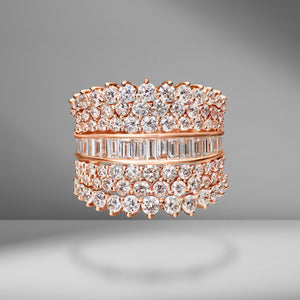 Mixed Diamond Glitz Ring