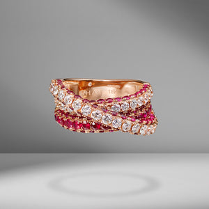 Ruby Orbit Ring