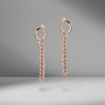 Pavé Diamond Drop Link Earring