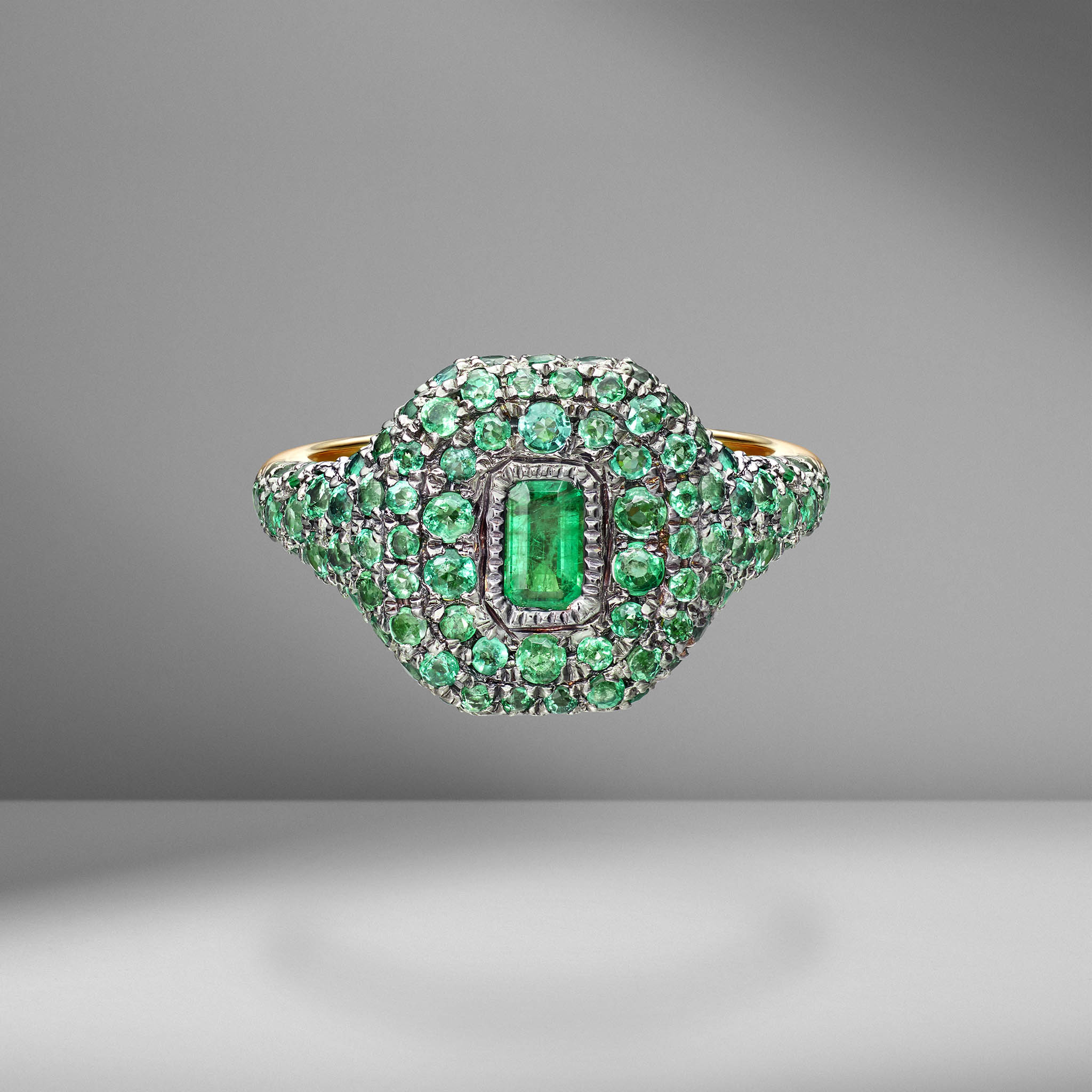 Pavé Gemstone Pinky Ring