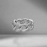Jumbo Pavé Link Diamond Ring