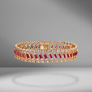 Dot-Dash Ruby & Diamond Bracelet