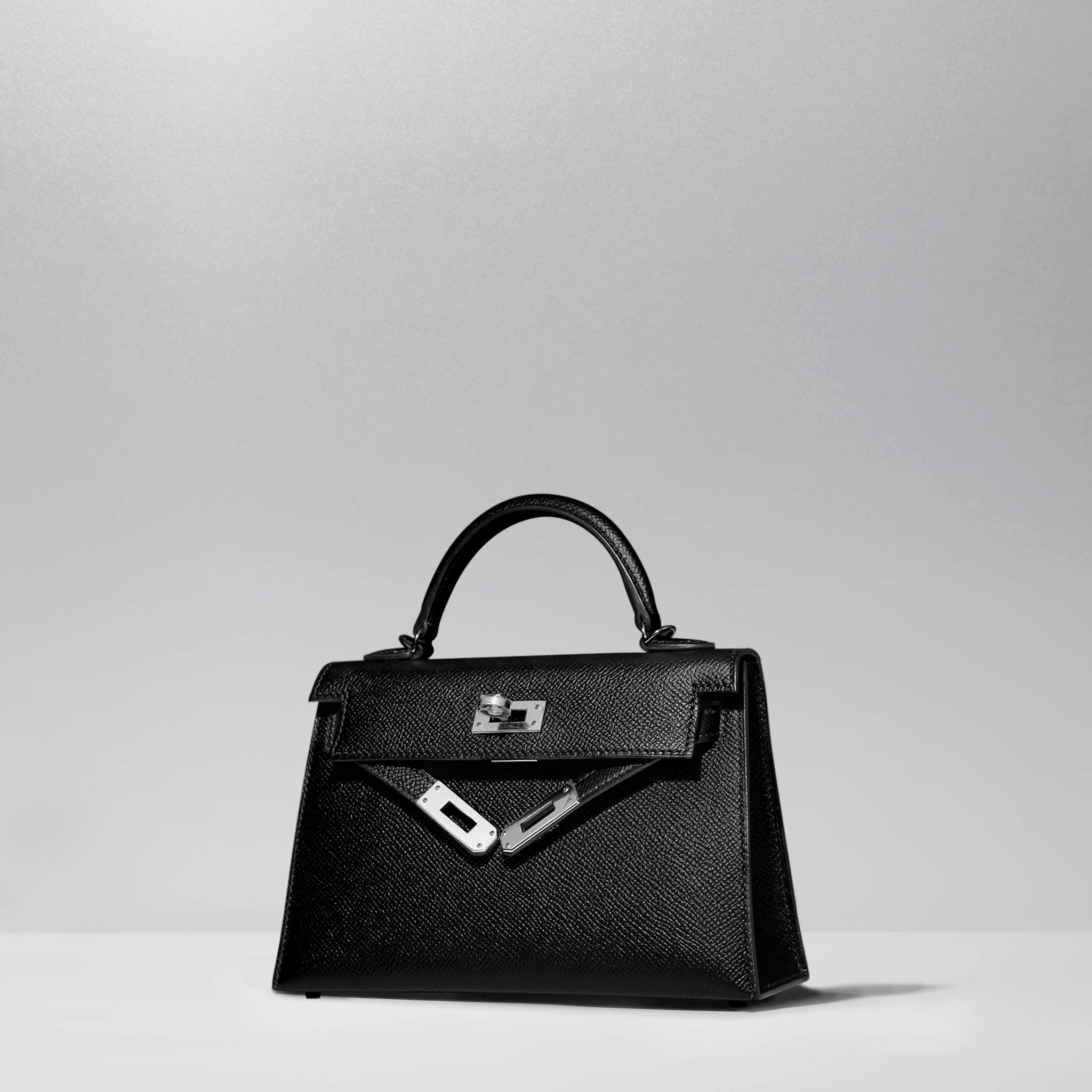 Mini Kelly 20cm in Black by Hermès