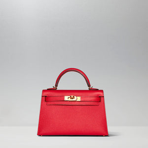 Mini Kelly 20cm in Geranium by Hermès
