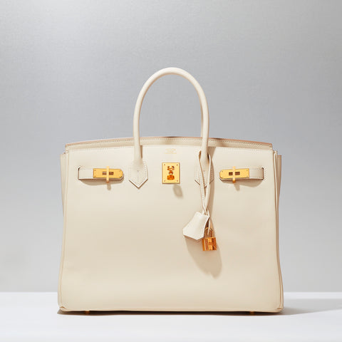 Birkin in Craie by Hermès
