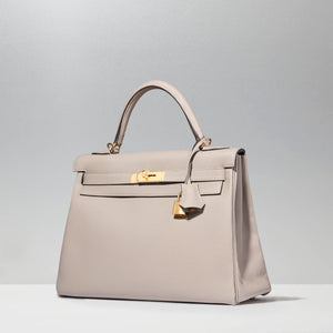 Kelly 32cm in Gris Asphalte by Hermès