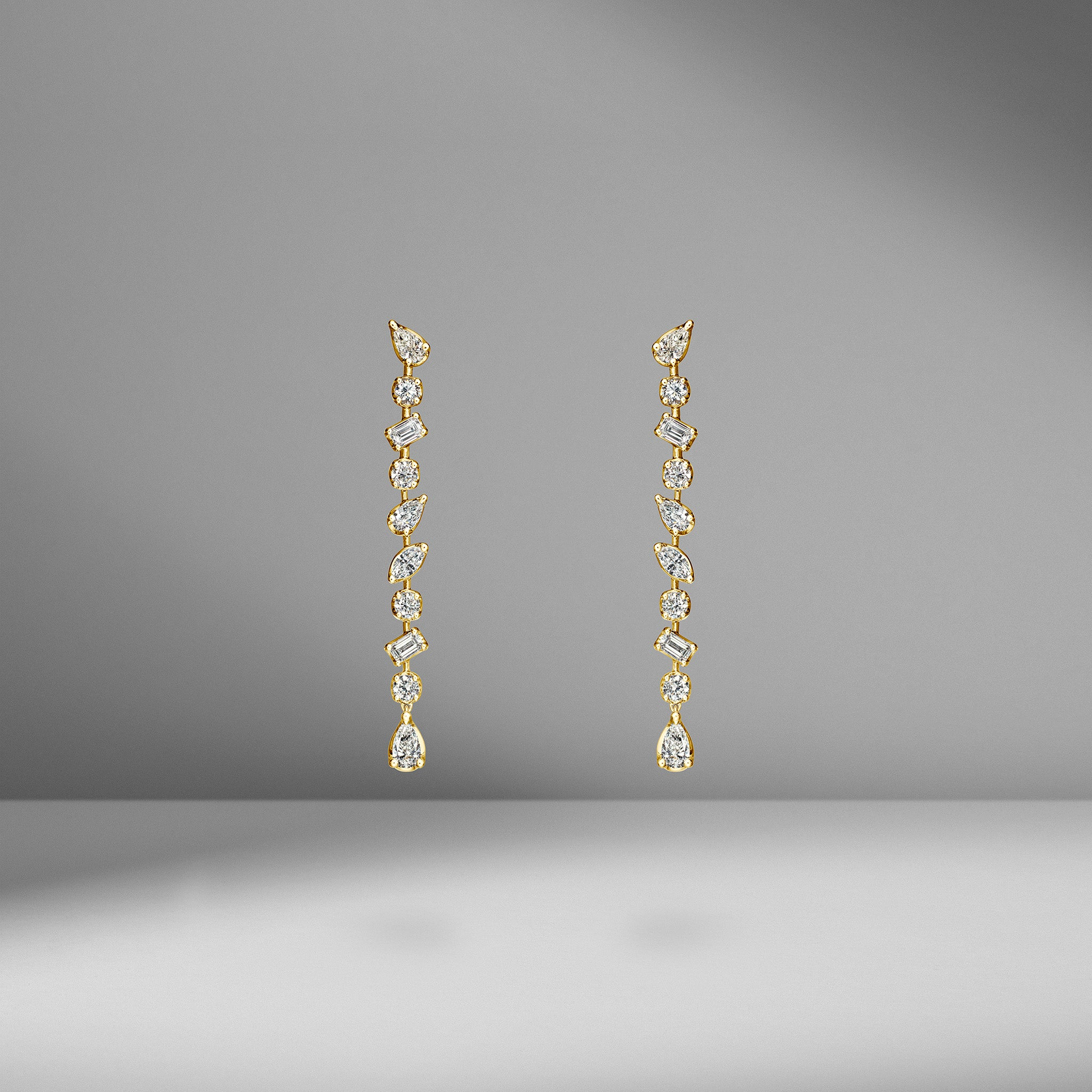Multi-Shape Drop Earrings