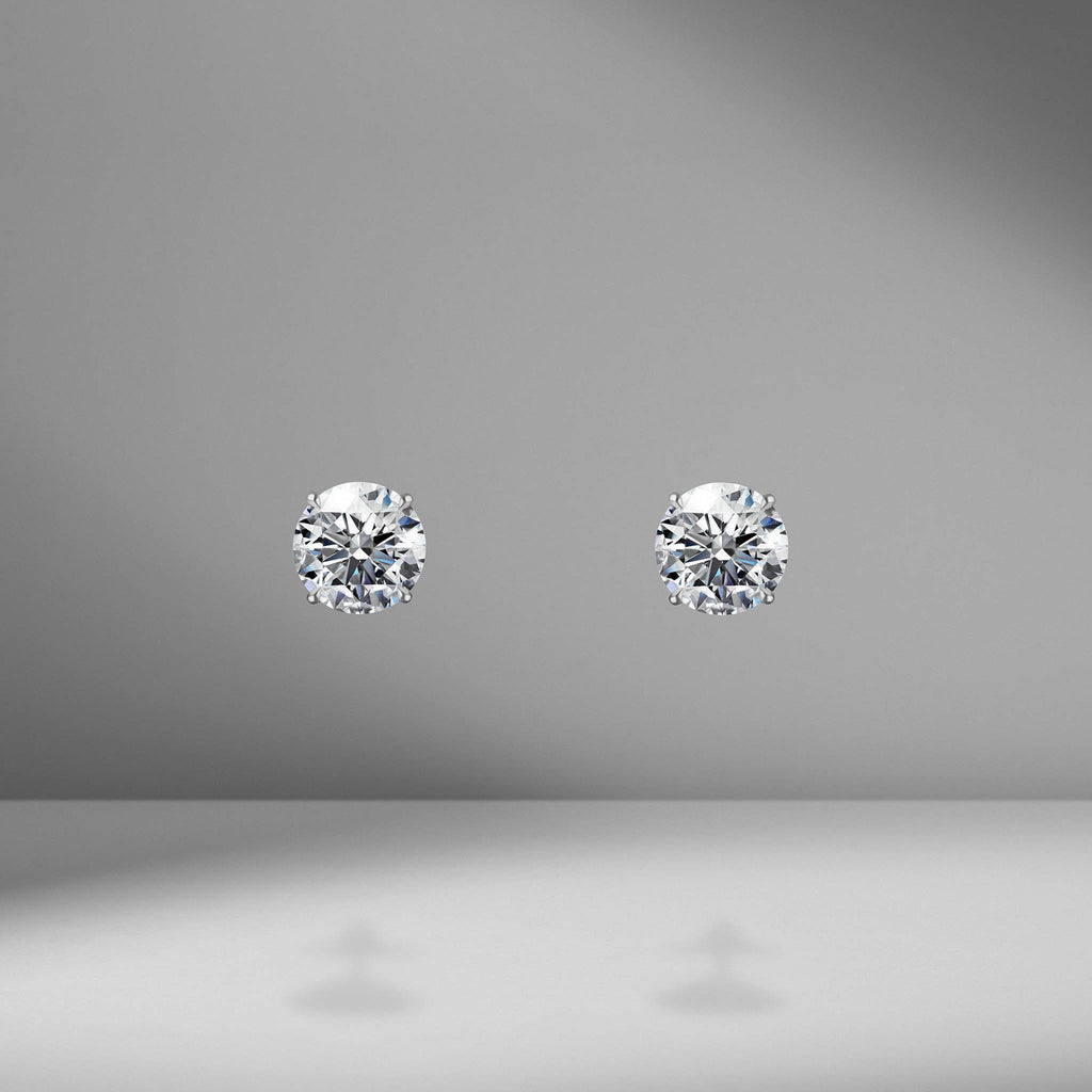 Diamond Studs - 3.20 Carat Total Weight