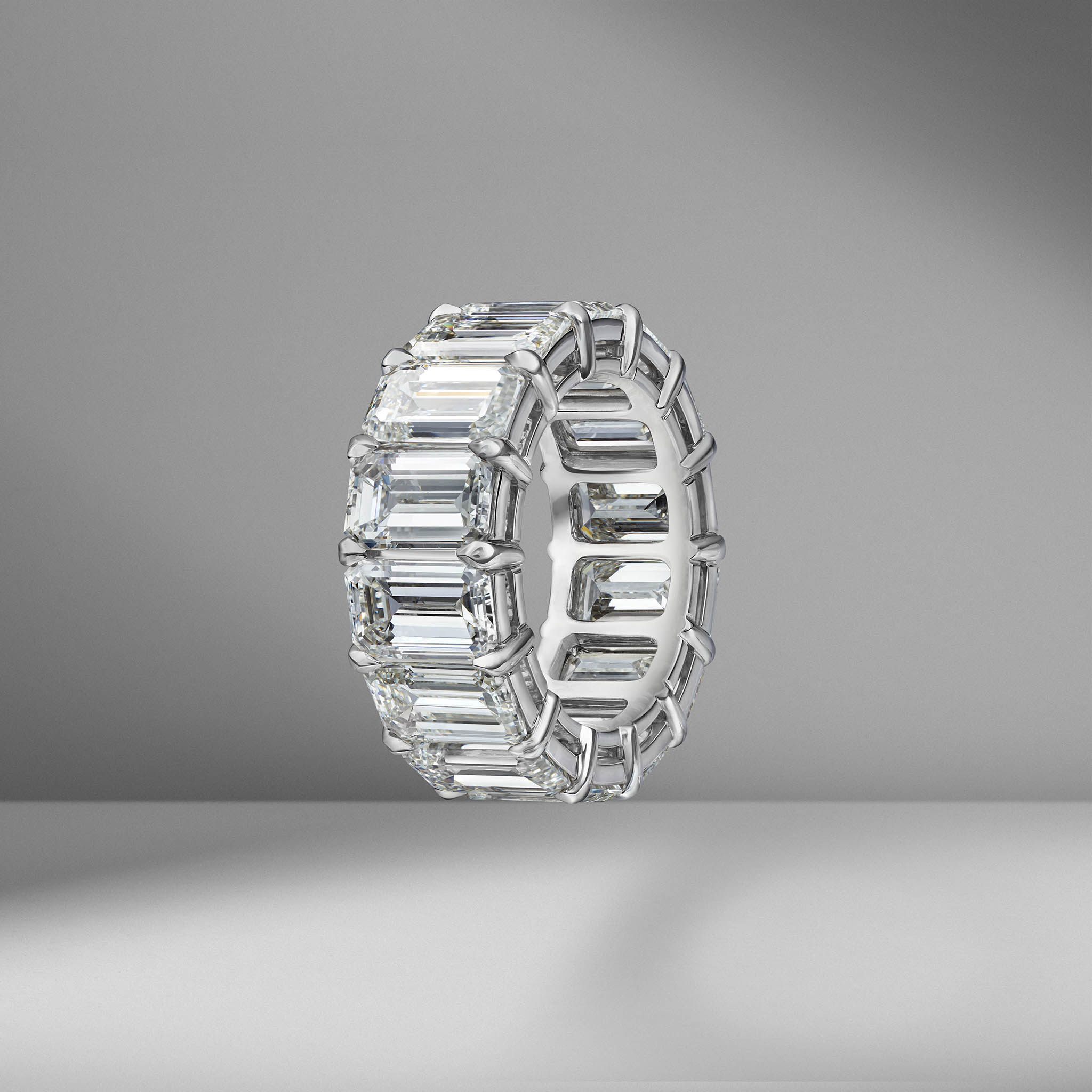 Emerald Cut Eternity Band 1.00