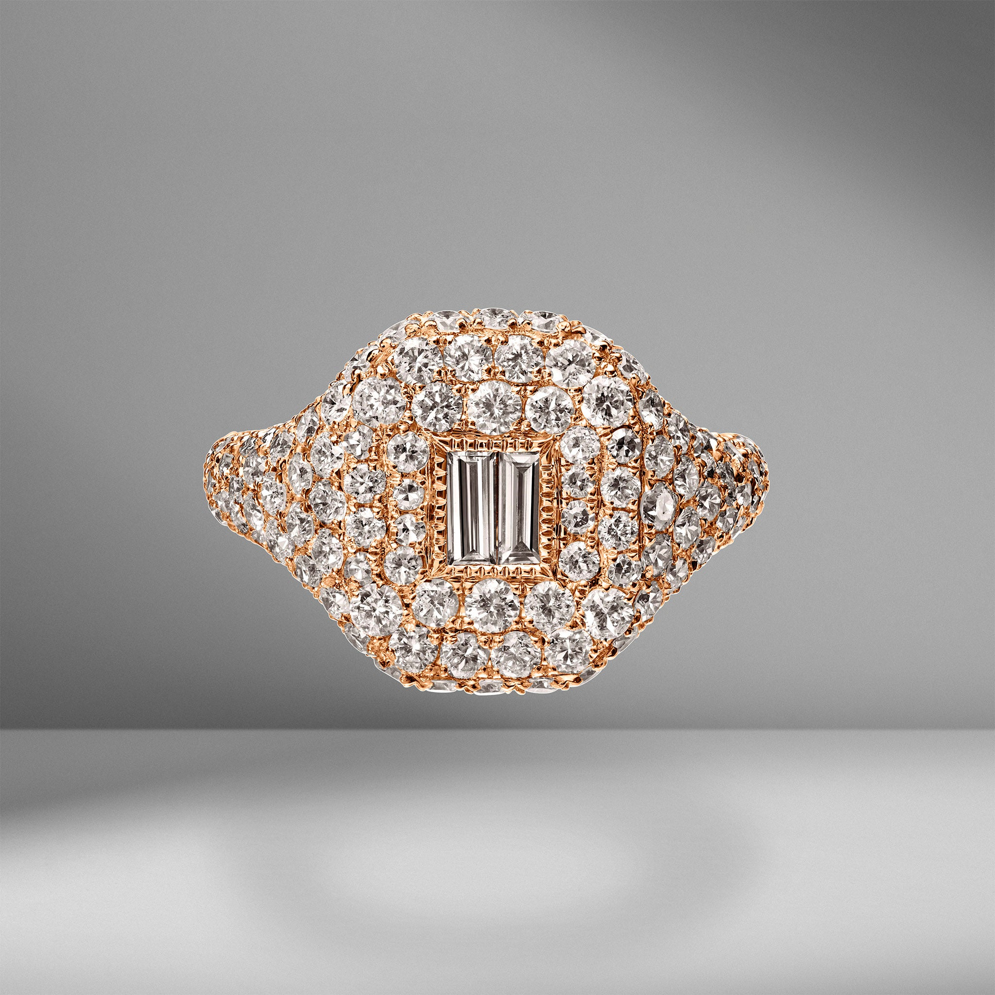 Diamond Baguette Pavé Pinky Ring