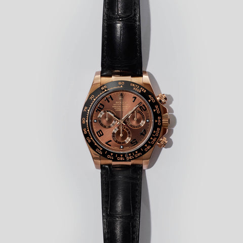 Rose Daytona on leather strap 116515LN - Rolex