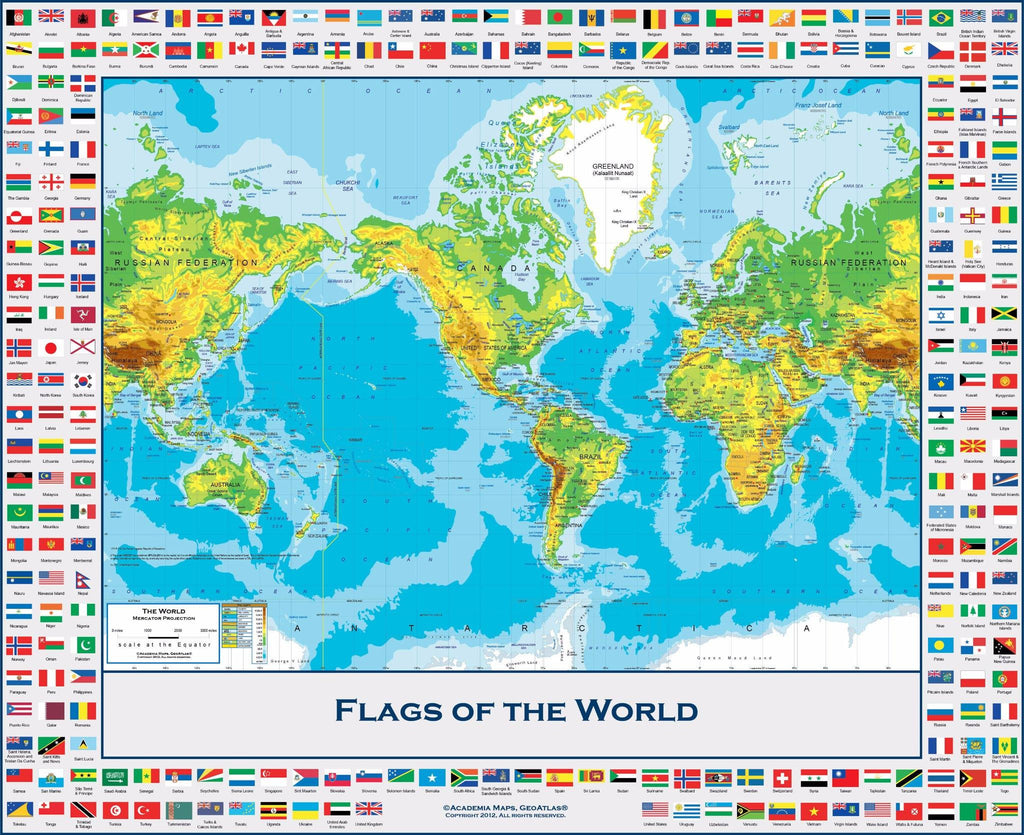 Premium World Map with Country Flags