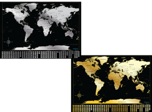 Globetrotter Maps® Gold & Silver Bundle