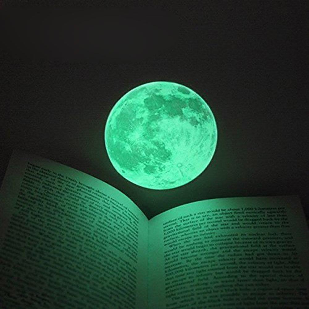 Large Glow In The Dark Moon Wall Decal Wanderland Designs