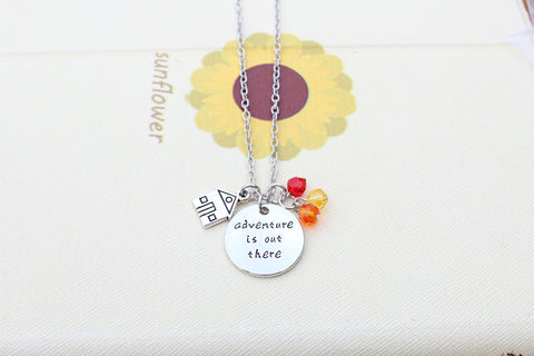 'Adventure Is Out There' (With House Charm) Necklace