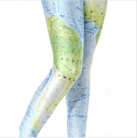 World Map Leggings - FREE WORLDWIDE SHIPPING