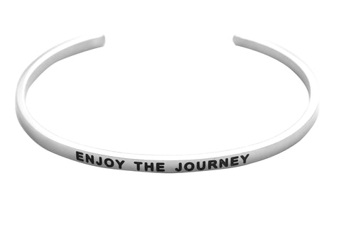 Premium 'Enjoy The Journey' Stainless Steel Bracelet
