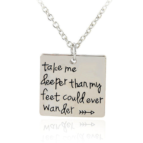 Could Ever Wander Necklace